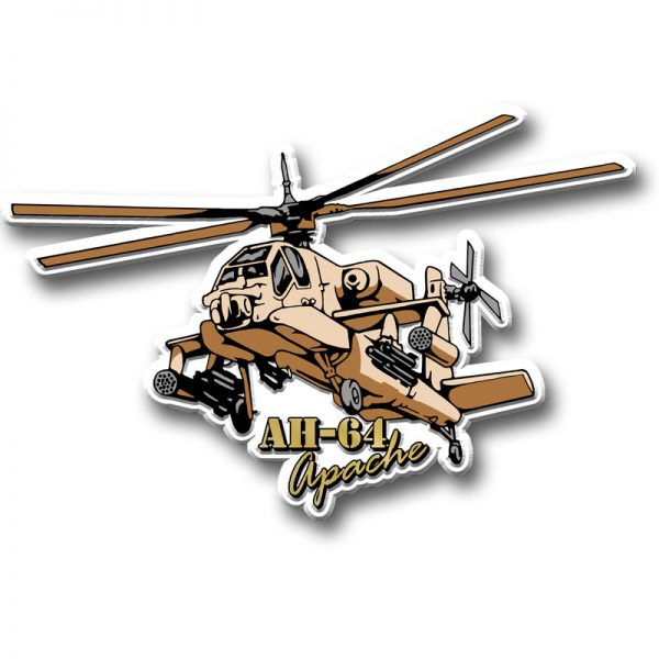 Apache Helicopter Magnet