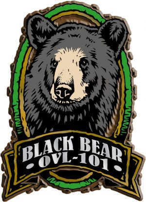 Black Bear Oval Name-Drop Magnet