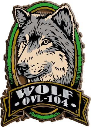 Wolf Oval Name-Drop Magnet