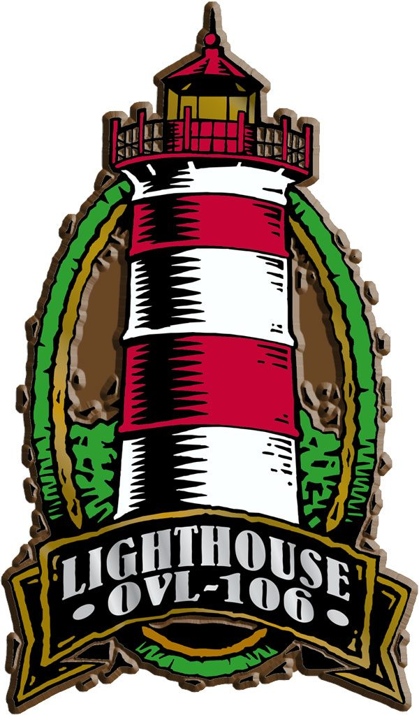 Lighthouse Oval Name-Drop Magnet