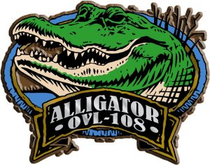 Alligator Oval Name-Drop Magnet