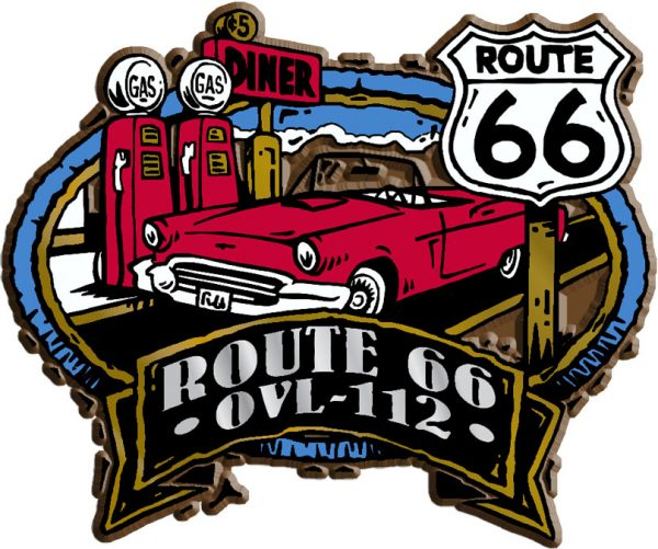 Route 66 Oval Name-Drop Magnet