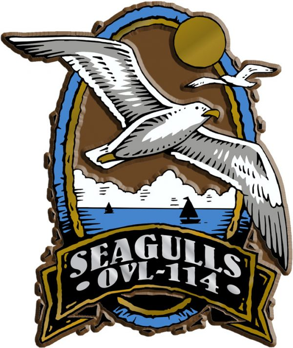 Seagull Oval Name-Drop Magnet