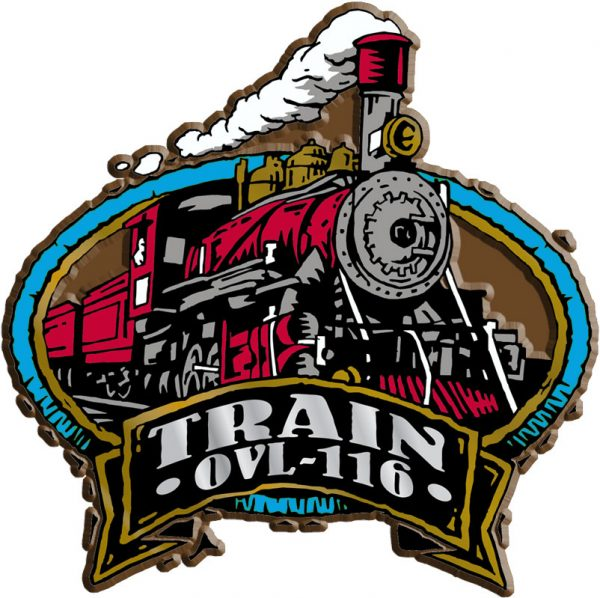 Train Oval Name-Drop Magnet