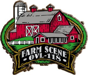 Farm Scene Oval Name-Drop Magnet