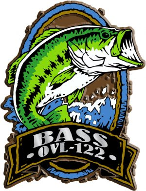 Bass Fish Oval Name-Drop Magnet