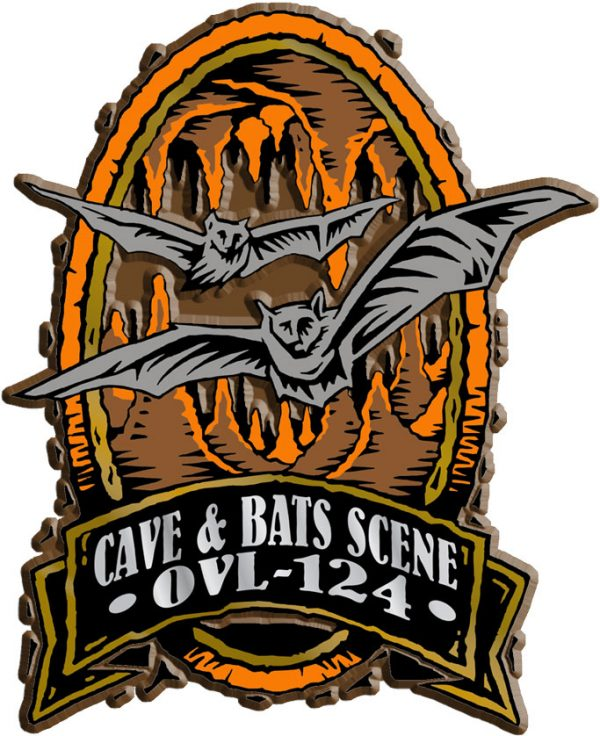 Cave Scene Oval Name-Drop Magnet