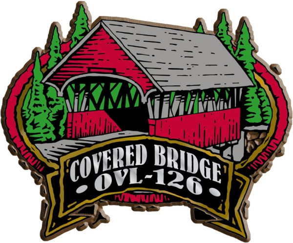 Covered Bridge Oval Name-Drop Magnet