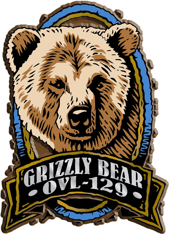 Grizzly Bear Oval Name-Drop Magnet
