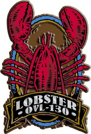 Lobster Oval Name-Drop Magnet