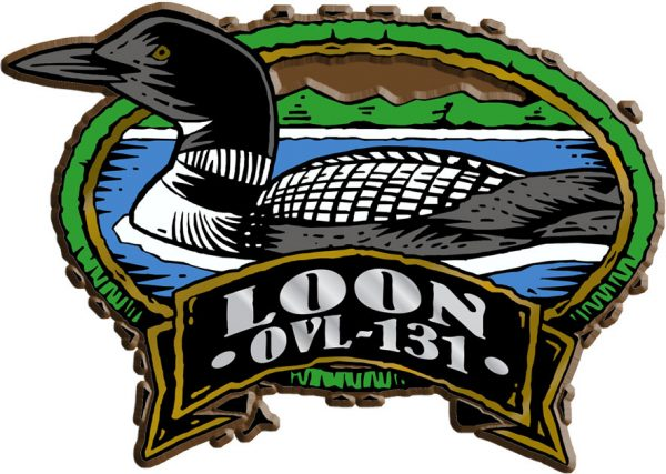 Loon Oval Name-Drop Magnet