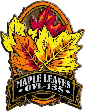 Maple Leaves Oval Name-Drop Magnet