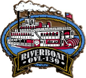 River Boat Oval Name-Drop Magnet