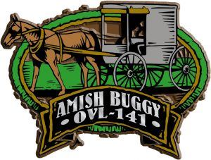 Amish Buggy Oval Name-Drop Magnet