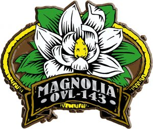 Magnolia Oval Name-Drop Magnet