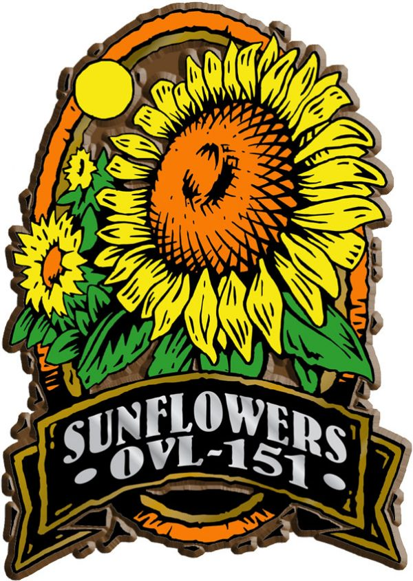 Sunflower Oval Name-Drop Magnet