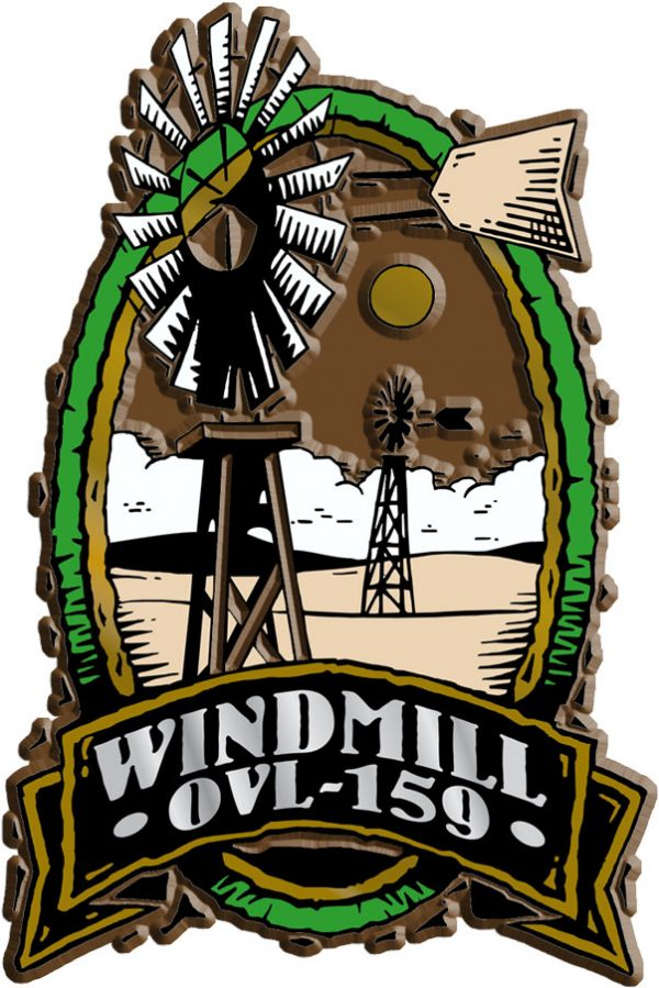 Windmill Oval Name-Drop Magnet