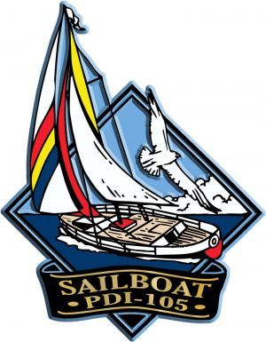 Sailboat Diamond Name-Drop Magnet