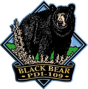 Black Bear Diamond Name-Drop Magnet