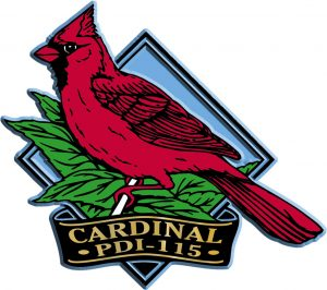 Cardinal Diamond Name-Drop Magnet