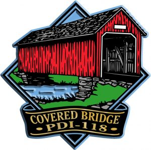 Covered Bridge Diamond Name-Drop Magnet