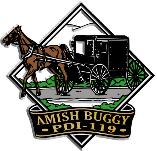 Amish Buggy Diamond Name-Drop Magnet