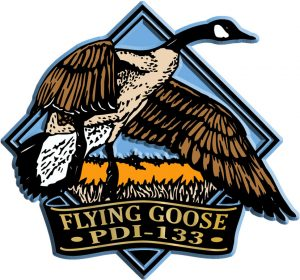 Flying Goose Diamond Name-Drop Magnet