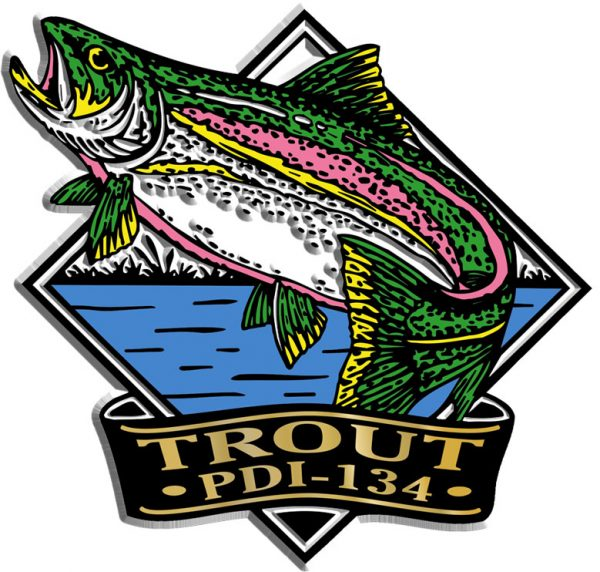 Trout Diamond Name-Drop Magnet
