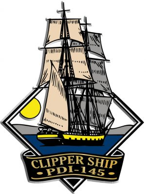 Clipper Ship Diamond Name-Drop Magnet