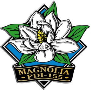 Magnolia Diamond Name-Drop Magnet