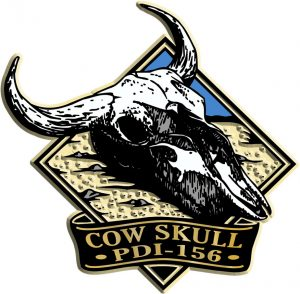 Cow Skull Diamond Name-Drop Magnet