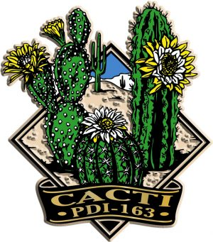 Cactus Scene Diamond Name-Drop Magnet