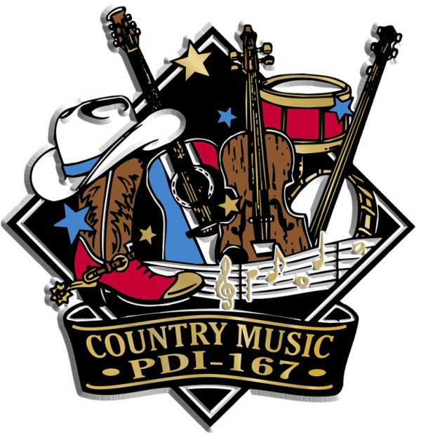 Country Music Diamond Name-Drop Magnet