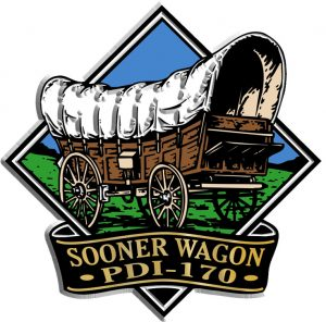 Sooner Wagon Diamond Name-Drop Magnet