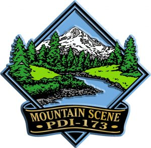 Mountain Scene Diamond Name-Drop Magnet