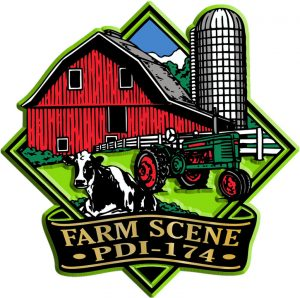 Farm Scene Diamond Name-Drop Magnet
