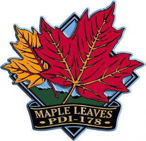 Maple Leaf Diamond Name-Drop Magnet