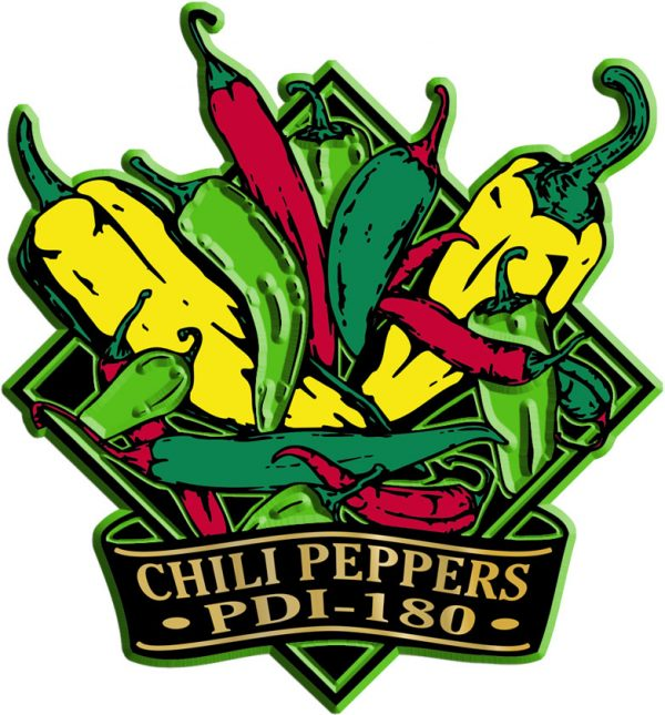 Chili Peppers Diamond Name-Drop Magnet