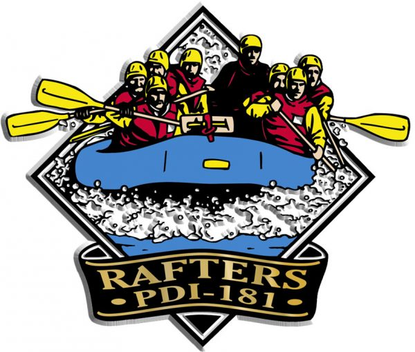 Whitewater Rafters Diamond Name-Drop Magnet