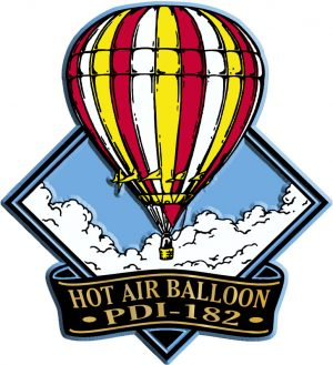 Hot Air Balloon Diamond Name-Drop Magnet