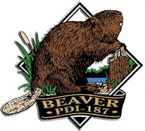 Beaver Diamond Name-Drop Magnet