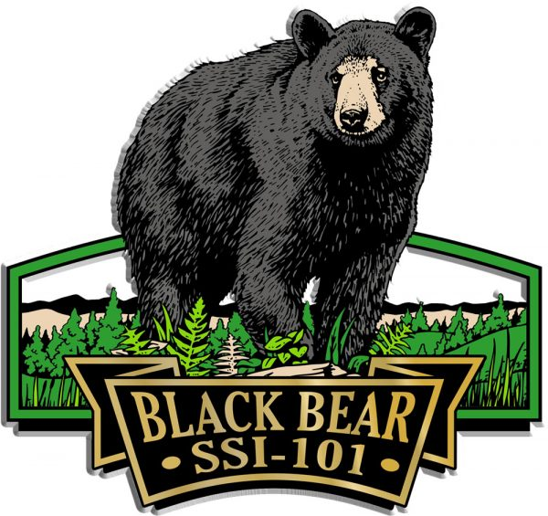 Black Bear Signature Series Name-Drop Magnet
