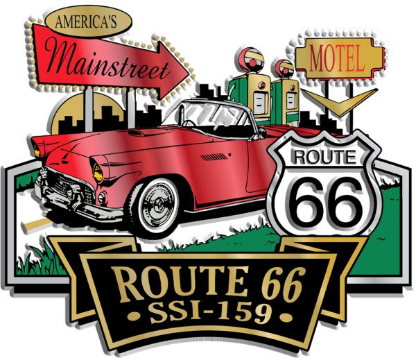 Route 66 Signature Series Name-Drop Magnet