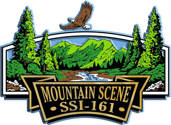Mountain Scene Signature Series Name-Drop Magnet
