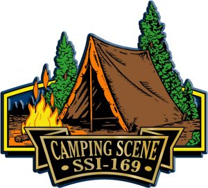 Camping Signature Series Name-Drop Magnet