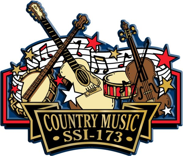 Country Music Signature Series Name-Drop Magnet