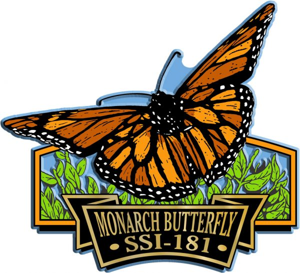 Monarch Butterfly Signature Series Name-Drop Magnet