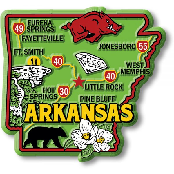 Kansas Colorful State Map Magnet