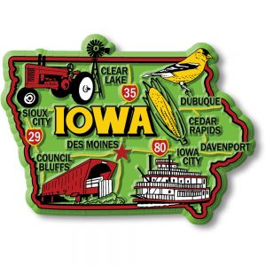 Iowa Colorful Magnet
